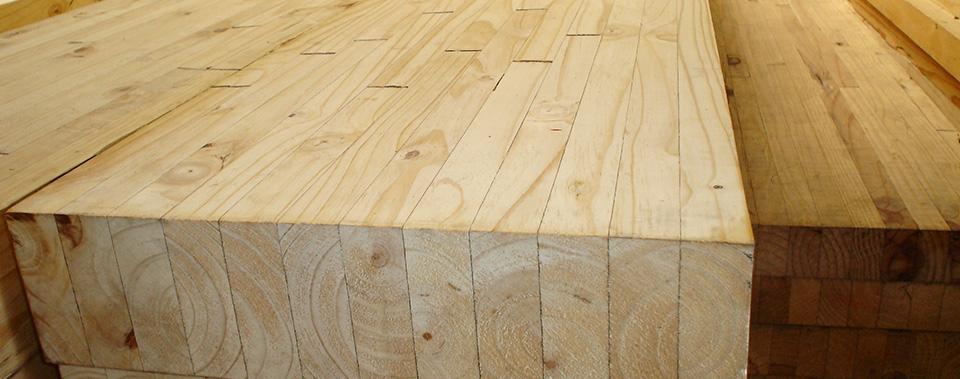 Laminated pine esstee timbers